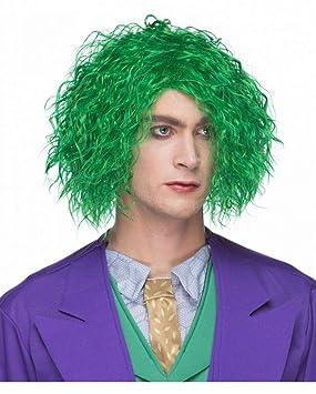 Horror-Shop Maniaco verde peluca rizada
