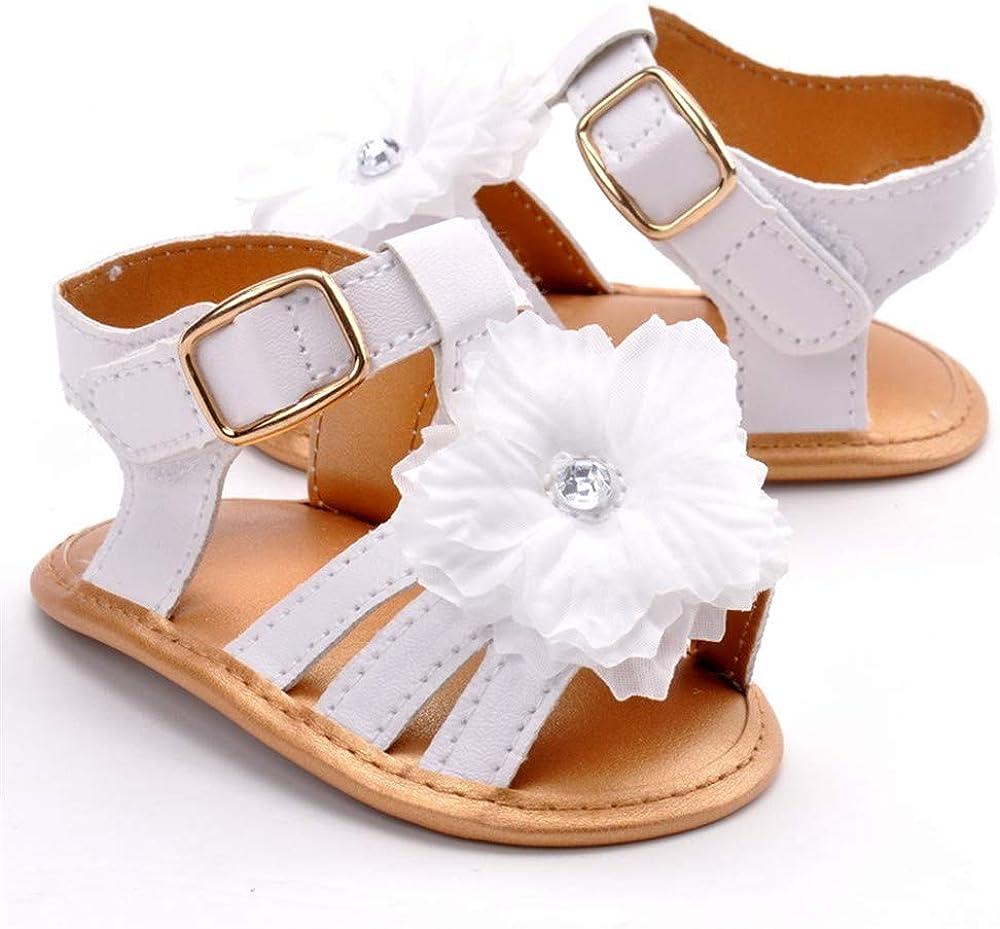 LACOFIA Baby Summer Princess Shoes Infant Girls Flower Sandals