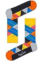 Happy Socks Unisex Argyle Combed Cotton Crew Socks