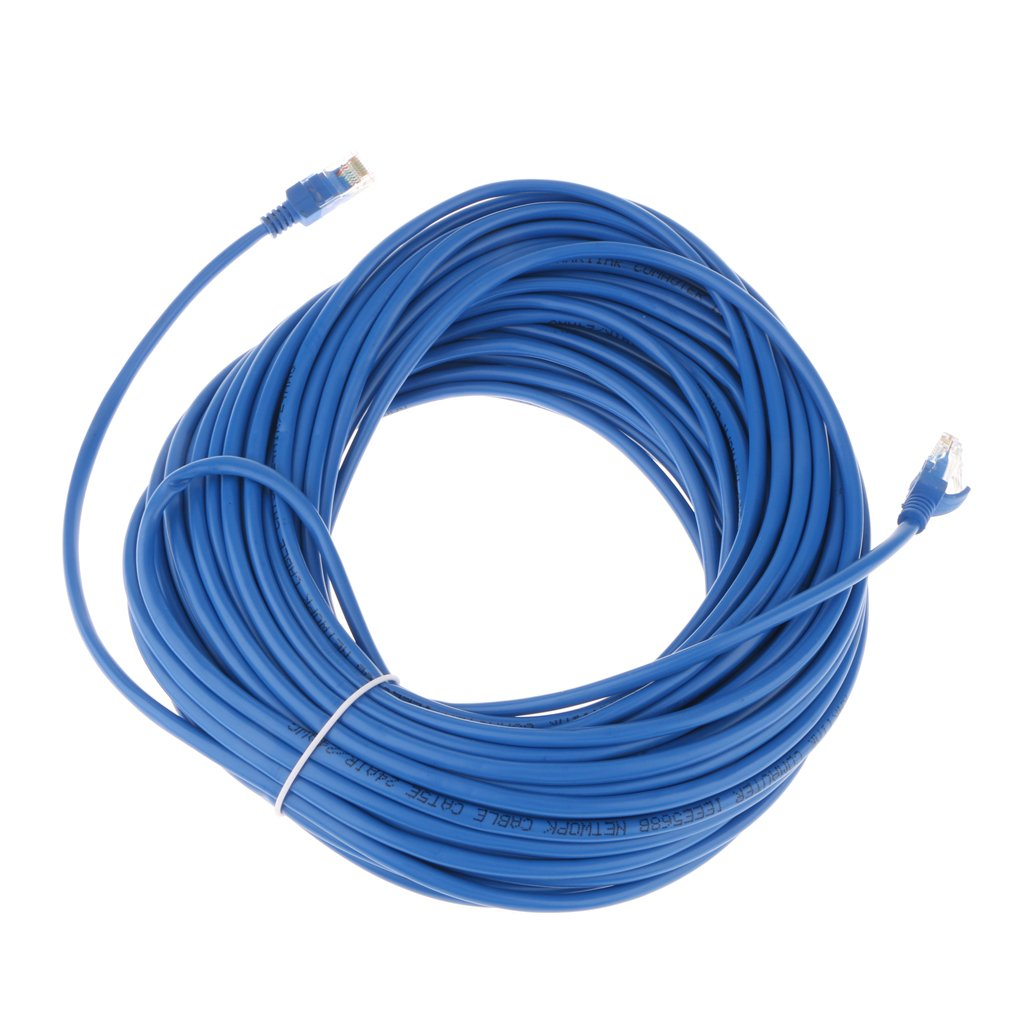 MagiDeal Cat5e Patch Cord Cable Ethernet Internet Network LAN RJ45 UTP Blue - Blue, 50Meter