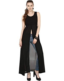 63a769a359 My Swag Women's Georgette U Neck Fit and Flare Regular Cape Dress