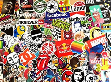 100 STICKER BOMB PACK CAR STYLING VINYL PIECES