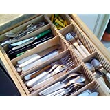 """Orderly Drawer Organizer - Brie's Template - Fits 13"""" Wide Kraftmaid Drawer"""