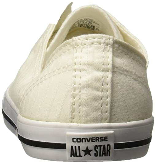 Converse Chucks 555891C Weiss Chuck Taylor All Star Dainty Perforated Stripe Canvas Ox White Black White