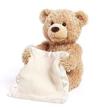 peekaboo move blink teddy bear musical toy bear helper Shi Ran Peek a Boo Bear can talk exercise funny baby 30 cm