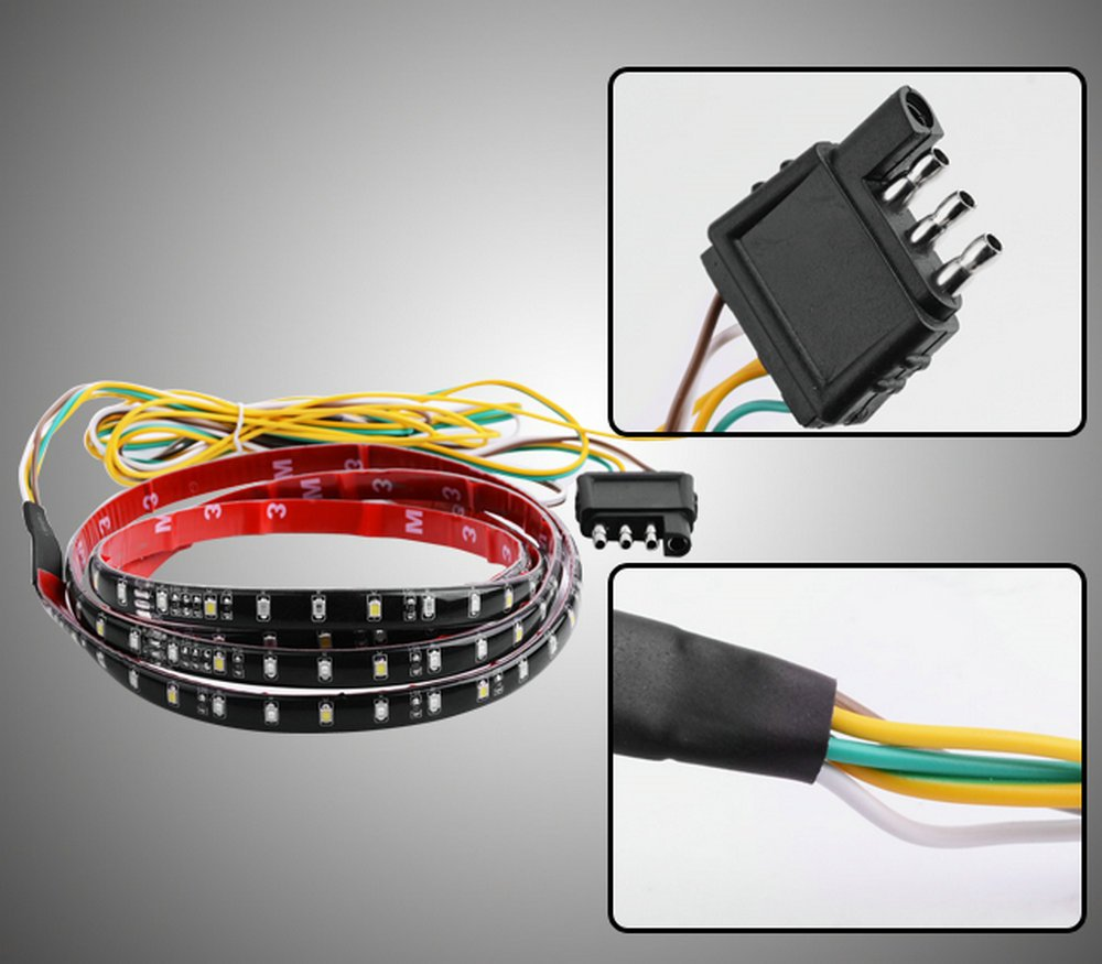Danti Waterproof 60 Red White Tailgate Led Strip Light 2007 Cadillac Srx Wiring Diagram Bar Truck Reverse Brake Turn Signal Tail For Chevrolet Chevy Avalanche Silverado Ext 2001 2015 Automotive