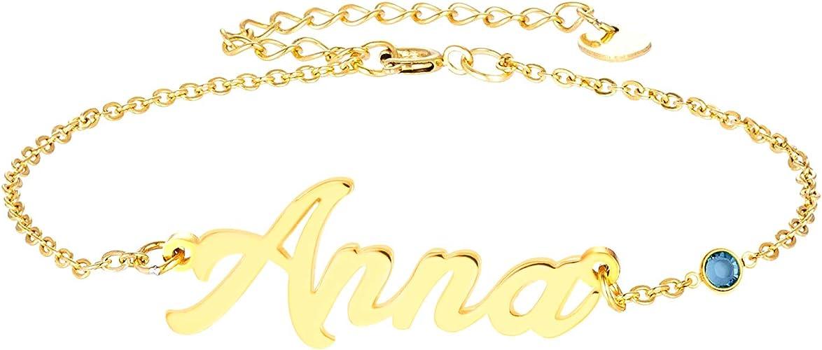 Heather 18 quilates chapado oro chapado Collar Con Nombre-elegante nombre Cadena Bodas Regalos