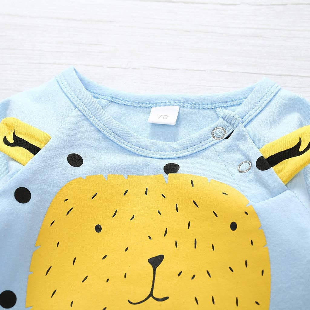 WOCACHI Onesies Newborn Infant Baby Boys Girls Cartoon Bear Dot Print Romper Outfits Unisex Toddler Long Sleeve Jumpsuit Casual Winter Autumn Clothes for 0-1 Years
