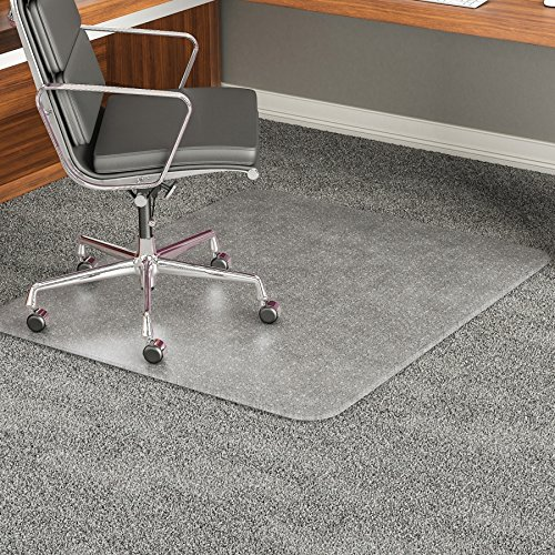 deflect-o 46 by 60-Inch Execumat Studded Beveled Chair Mat for High Pile Carpet, Clear by Deflect-O