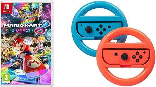 Mario Kart 8 Deluxe + Pack 2 volantes AmazonBasics: Amazon.es: Videojuegos