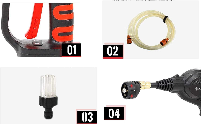 Vobor Elektrische Autowaschpumpe Hochdruckreiniger 12 V Tragbarer selbstansaugender Hochdruckreiniger for die schnelle Reinigung der Wasserpumpe