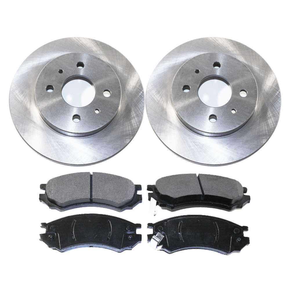 Prime Choice Auto Parts RSCD6583-6583-507-2-4 4 Front Ceramic Brake Pads and 2 Front Brake Rotors