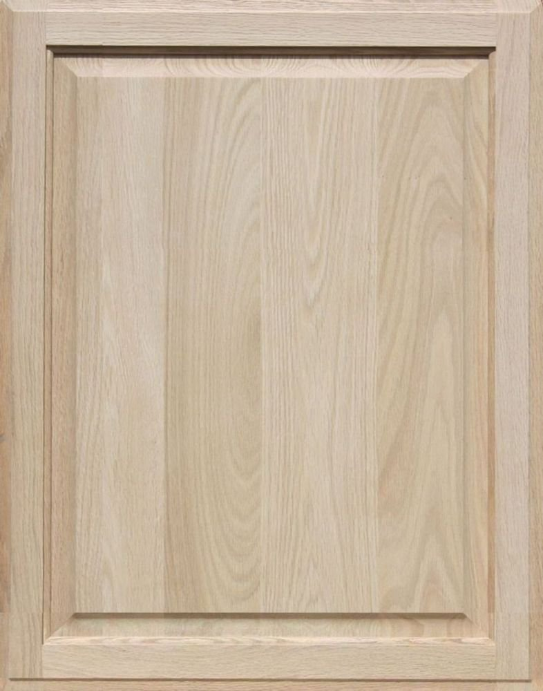 Square with Raised Panel by Kendor 28H x 22W Unfinished Oak Cabinet Door