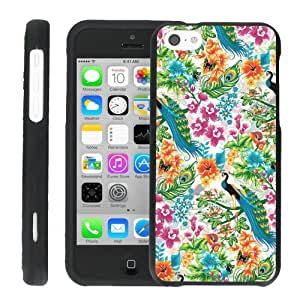 [ManiaHead] Design Hard Case Shell Cover Snap On Case (Color Flower Peacock) for Iphone 5c