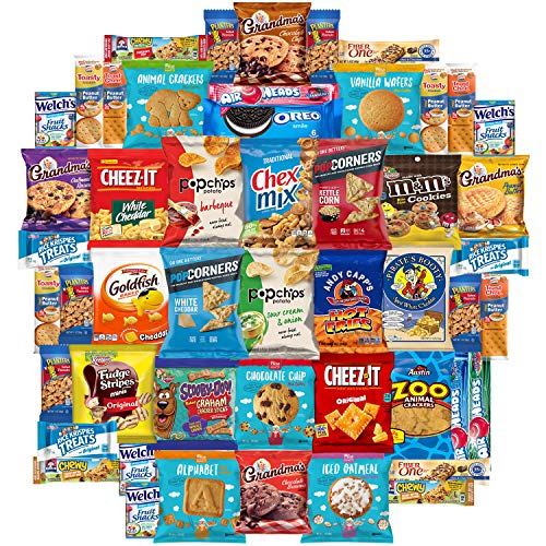 Snack Chest Munchies Care Package Chips Cookies & Candy Includes Goldfish, Oreos, Skittles, Sour Patch, m&m Cookie, Air Heads, Planters Peanuts, Rice Krispies & More (50 Count) by Snack Chest (Image #4)