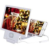 Cooljun Compatible avec iPhone XS/XS Max/XR/Samsung Galaxy S9/S8/S7/S6 et autres téléphones intelligents,8.5 Inch Universel pour Téléphone portable 3d écran Loupe