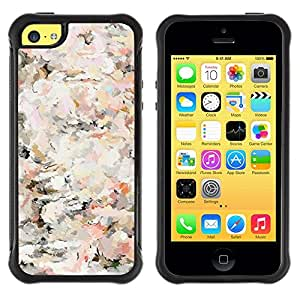 "Pulsar iFace Series Tpu silicona Carcasa Funda Case para Apple iPhone 5C , Floral Vintage Vignette Wallpaper Flores"""