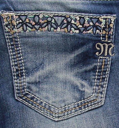 Embroidered Pocket (Miss Me Women's Back Pocket Embroidered Straight Leg Jean, Medium, 26)