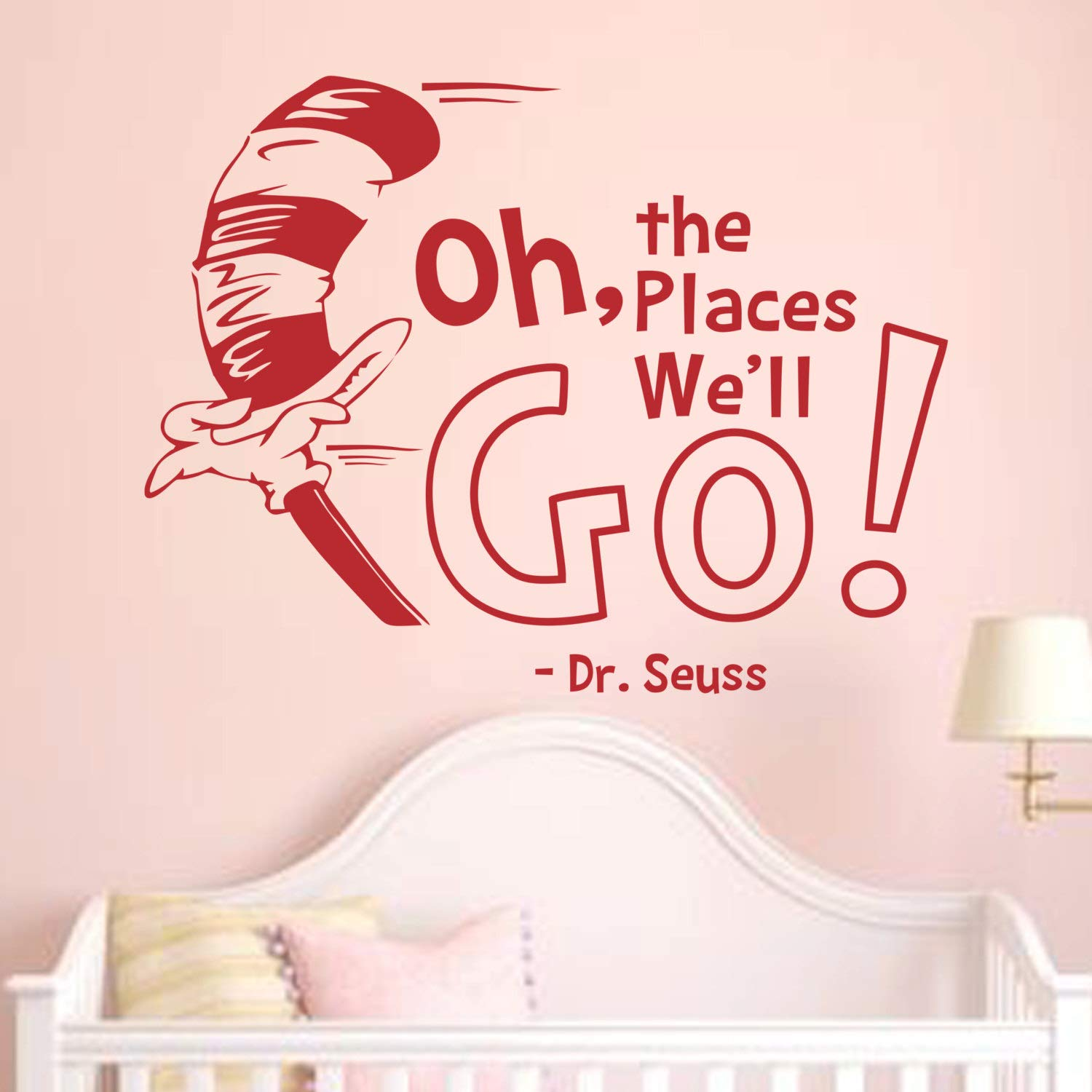Wall decals oh the places youll go wall decals dr seuss quotes nursery dr seuss nursery vinyl wall quotes kids baby room theme wall art decor made in usa