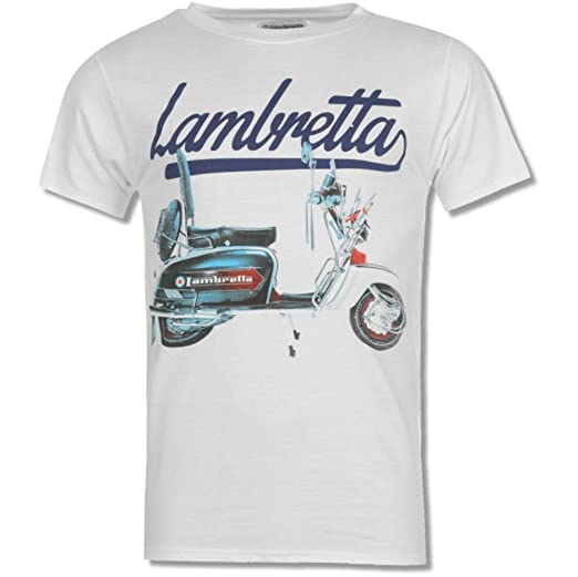 Lambretta Mens Retro MOD Scooter Target 1947 Cotton Tee T-Shirts:  Amazon.co.uk: Clothing