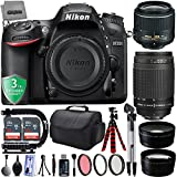 Nikon D7200 24.2MP 1080P DSLR Camera w/ Wi-Fi & GPS Ready + 4 Lens - 18 to 300mm - 64GB - 30PC Kit - Nikon 18-55VR - Nikon 70-300G Lens - Opteka 2.2x Telephoto - Opteka 0.43x Wide/Macro + 3YR Warranty