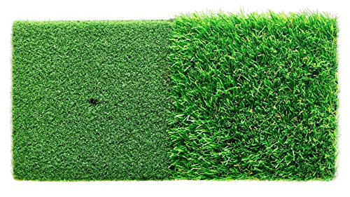 StrikeDown Dual-Turf Golf Hitting Mat (25in x 12in) by Motivo Golf