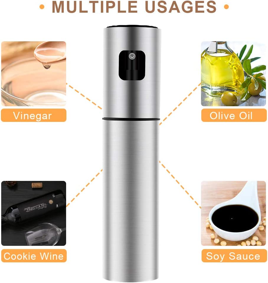Roasting Baking Making Salad Grilling Cooking Stainless Steel Bottle with Bottle Brush and oil Funnel for BBQ AriTan Olive Oil Sprayer Dispenser for Cooking