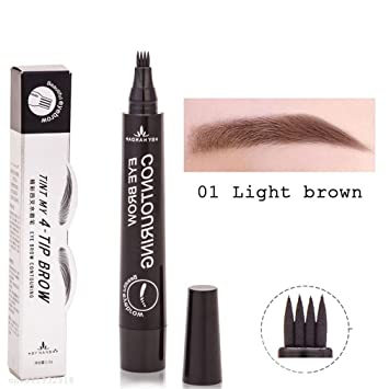 Amazon Com 4 Fork Tip Fine Sketch Enhancer Eyebrow Tattoo Pen
