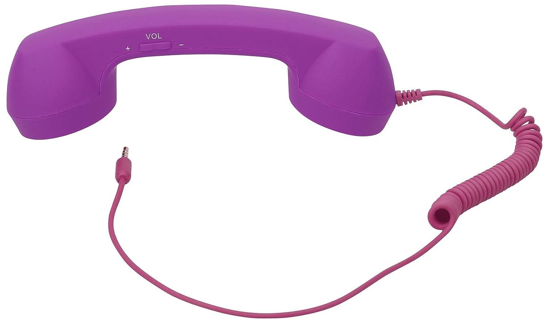 Generic 3.5mm Volume Remote Control Retro Telephone Handset Receiver for iPhone, Purple B10179-PU