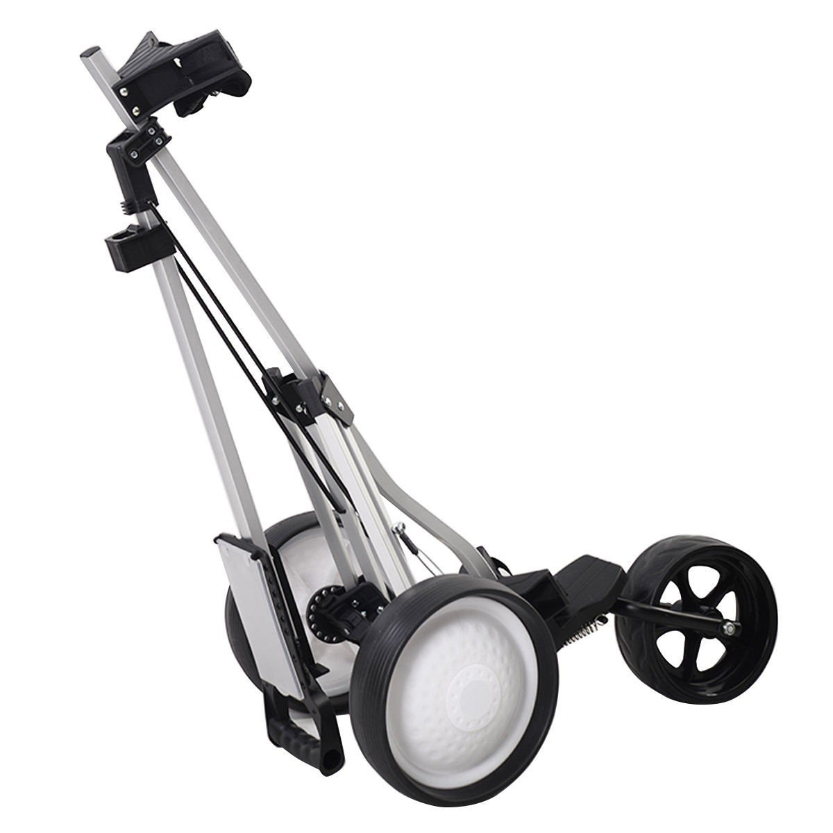 MD Group Golf Cart Push Trolley Pull Wheel Foldable Club Swivel Holder Lightweight Aluminum by MD Group (Image #4)