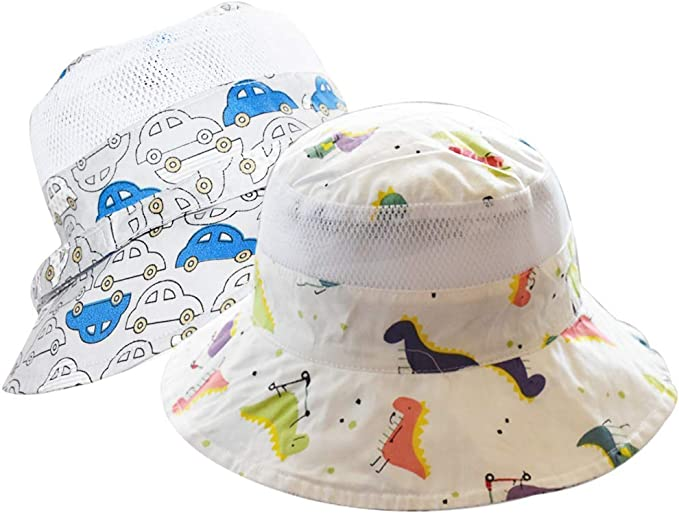 Zando Baby Sun Hat Kids Summer Outdoor UPF 50 Sun Protection Baby Boy Girl Hats Toddler Beach Cap Bucket Hat