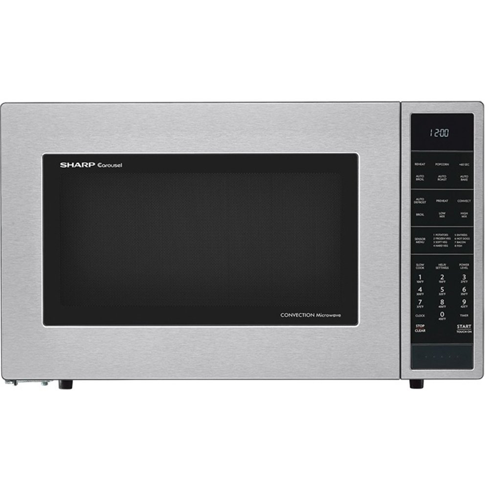 Sharp SMC1585BS 1.5 cu. ft. Microwave Oven with Convection Cooking Auto Defrost Popcorn and beverage settings and 10 Cooking Power Levels in Stainless