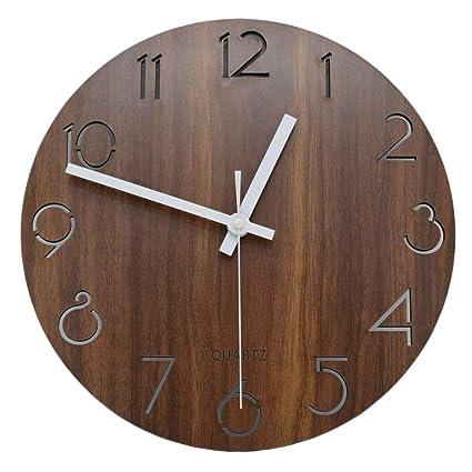 Amazoncom Llsmting Wall Clock Vintage Arabic Numerals