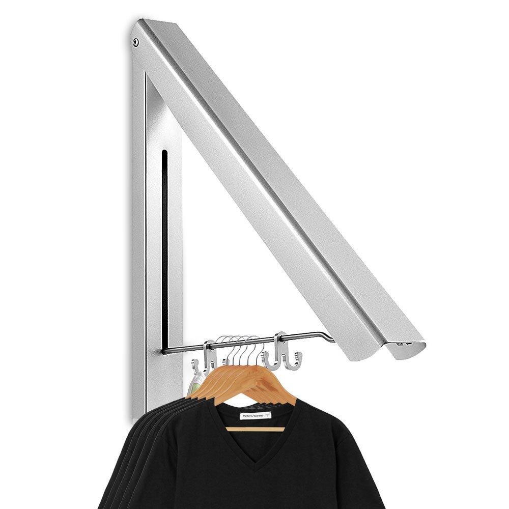 Aodoor Klappbar Wand Kleiderstnder Aluminium Kleiderhaken Garderobenhaken Geeignet Fr Wohnzimmer Bad Schlafzimmer Bro Silber 40454CM Amazonde