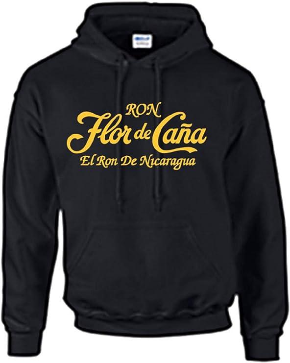 Ron Flor de Caña con capucha, Negro: Amazon.es: Deportes y ...