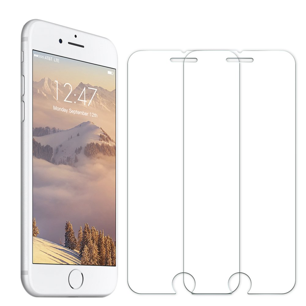 [2 Pack] iPhone 8 / 7 Screen Protector, Senisttech High Transparency Anti Fingerprint  9H Tempered Shatterproof Glass Screen Protector Anti-Shatter Film for iPhone 8 / 7 4.7 Inch [3D Touch Compatible]