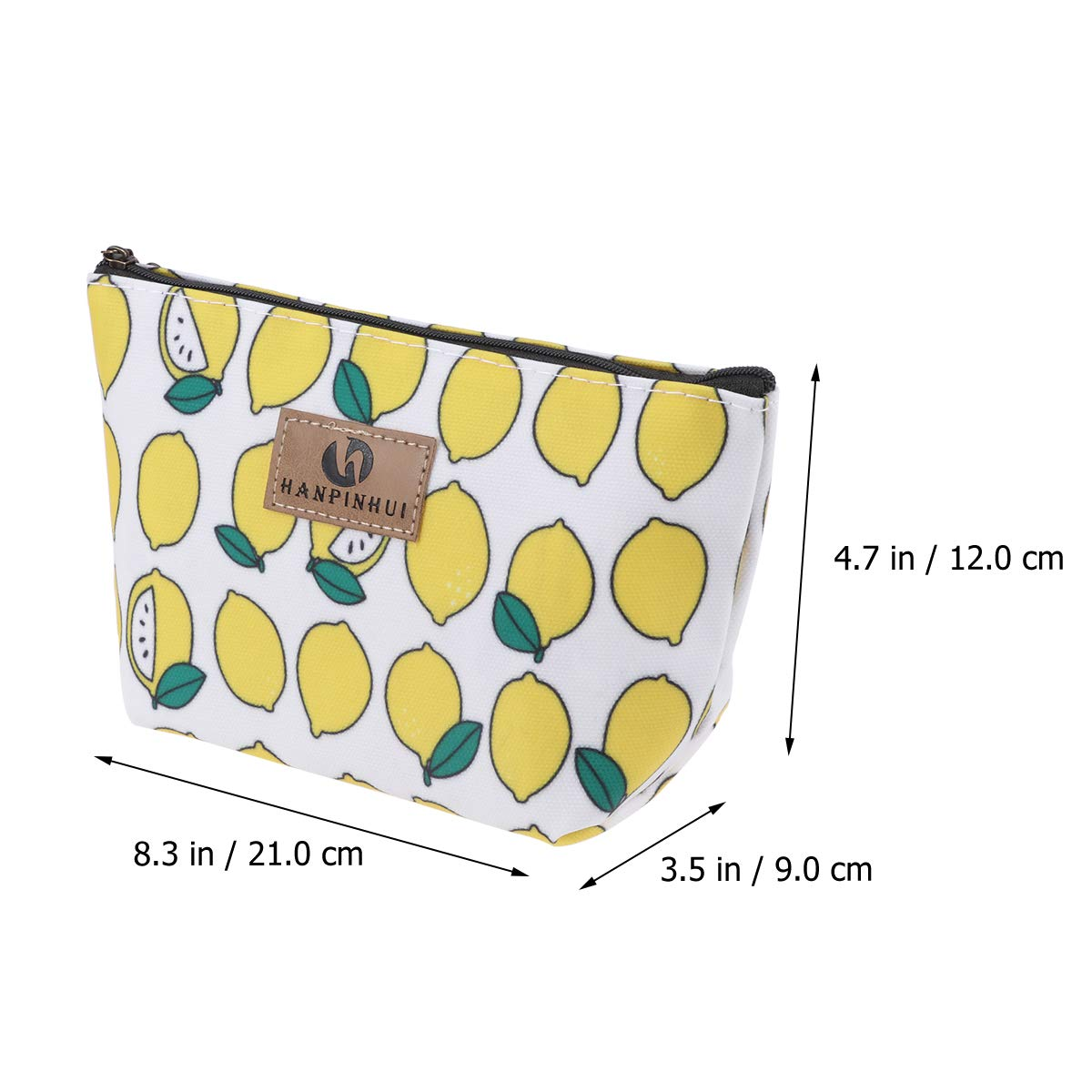 Toiletry Bag, Multifunction Makeup Bag Purse Organizer Cartoon Cosmetic Pouch Waterproof Travel Cosmetic Case (Lemon)