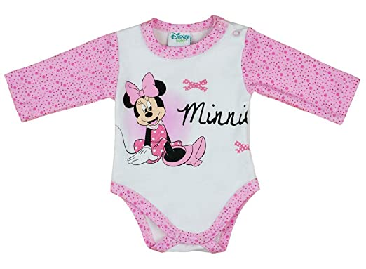 Disney Minnie Mouse Tunika T-Shirt Langarm Shirt Baumwolle pink 80 86 92 Neu