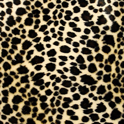 Baby Cheetah Brown Velboa Faux Fur Animal Short Pile Fabric - Sold By The Yard (FB)