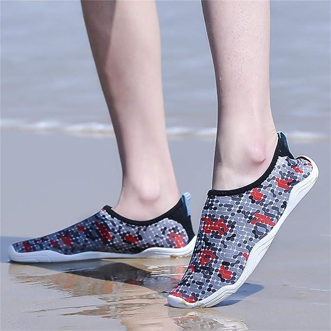 Darringls Zapatos de Agua para Buceo Snorkel Surf Piscina Playa Vela Mar Río Aqua Cycling Deportes Acuáticos Calzado de Natación 39-48 Hombre: Amazon.es: Ropa y accesorios