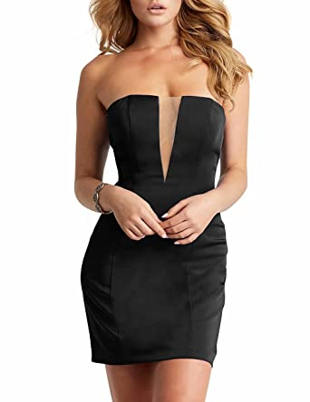 Naxy Teens Homecoming Dress Short Strapless Bodycon Dress Women