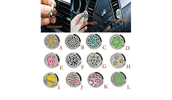 Amazon.com: Car Air Freshener Car Perfume Diffuser Clip Car Air Auto Vent Freshener Essential Oil Gift Locket Decor accesorios automovil: Beauty
