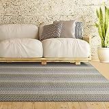 iCustomRug Multi Colored Loop Pile Berber Carpet Non Skid Utility Rug 6ft0in x 8ft0in (6′ x 8′) Sand Beige