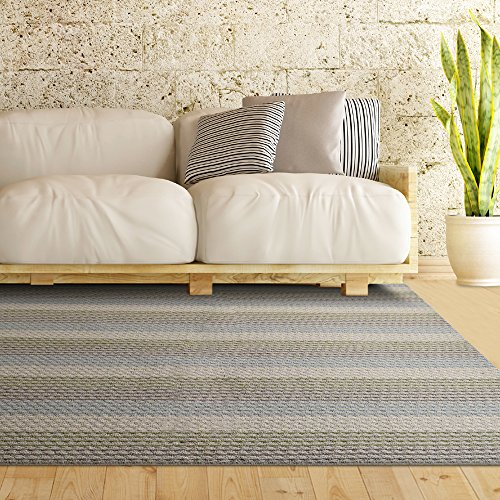 iCustomRug Multi Colored Loop Pile Berber Carpet Non Skid Utility Rug 5ft0in x 8ft0in (5' x 8') Sand Beige (5x8 Outdoor Rug)