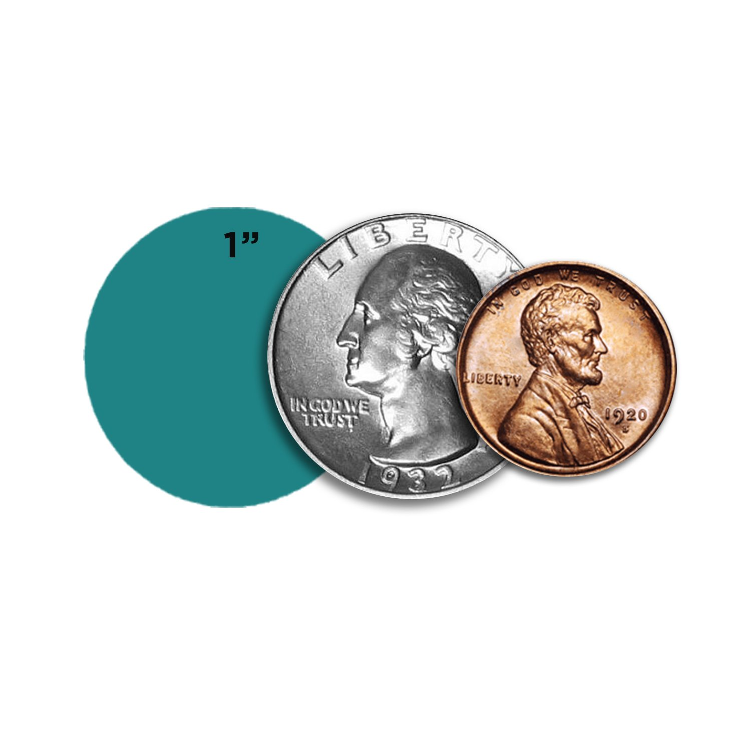 ChromaLabel 1 inch Removable Color-Code Dot Labels | 1,000/Roll (Teal) by ChromaLabel (Image #4)