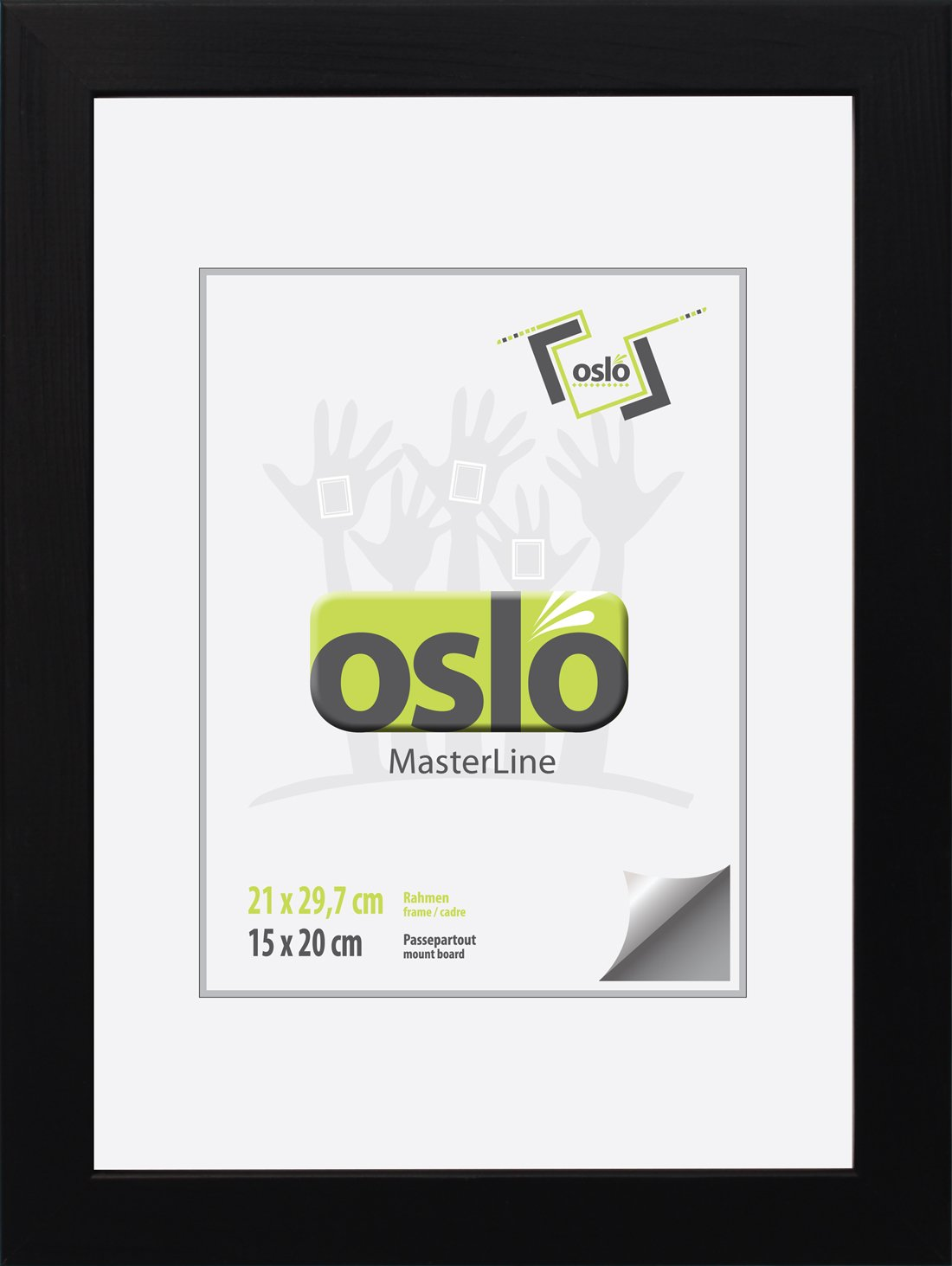 Amazon.de: OSLO MasterLine Bilderrahmen 21x30 Din A4 Schwarz Holz ...