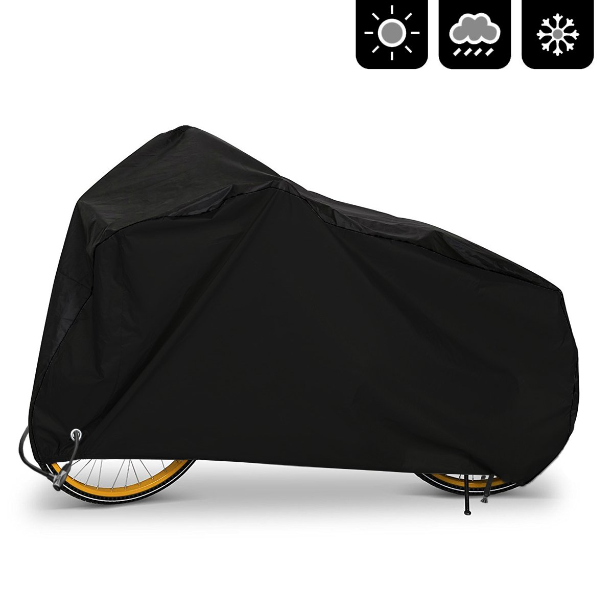 AIMUHO Bike Cover 210D Oxford Fabric Waterproof Bicycle Cover with Lock Holes, Outdoor Bicycle Rain Cover UV Protection for All Weather Conditions/XL Size