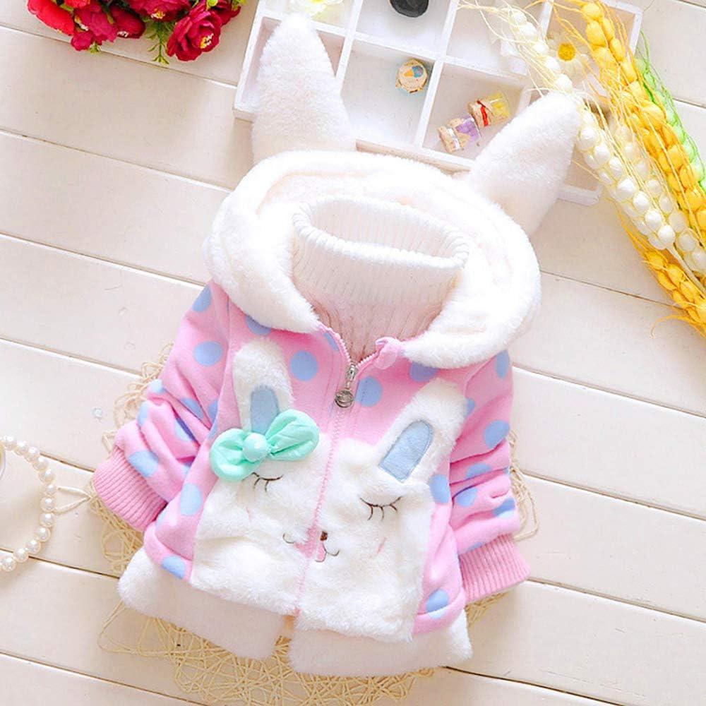 RJXDLT Baby Girls Toddler Kids Fall Winter Coat Jacket Outwear Ear Hoodie Sweatshirt