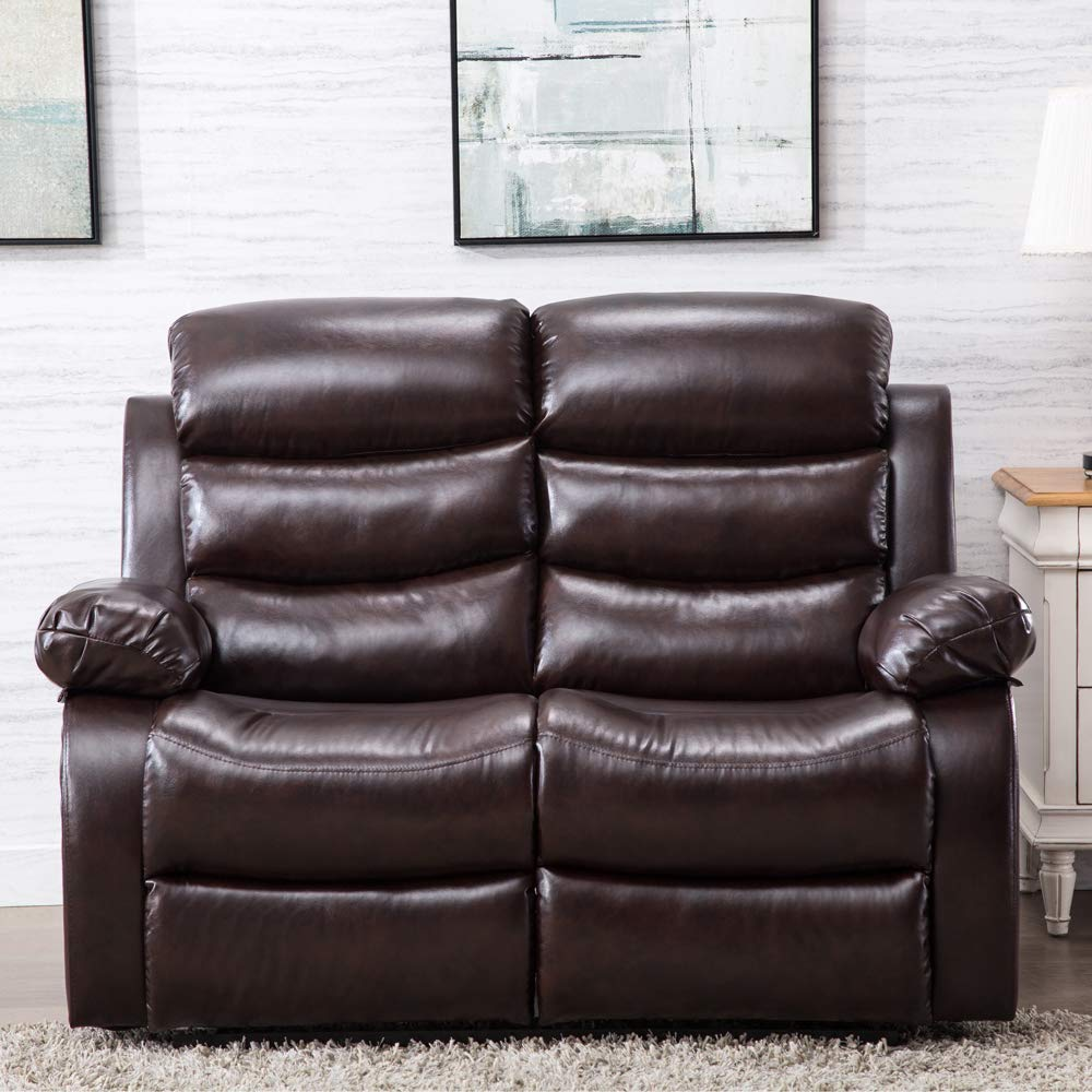 Amazon.com: Recliner Sofa Leather Sofa Recliner Couch Home Theater ...