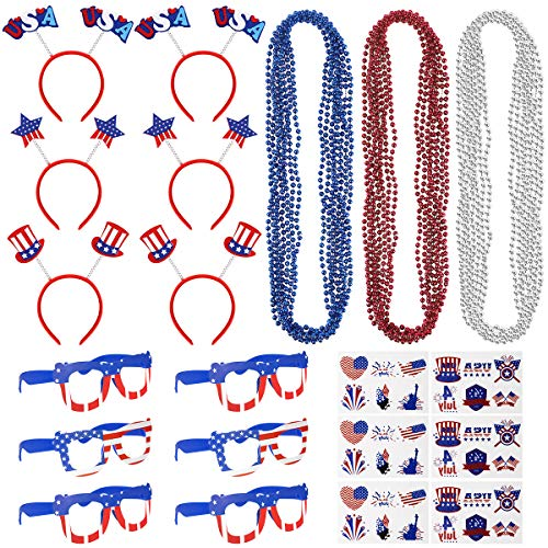 4th Of July Accessories - 72PCS 4th of July Accessories for